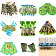 Ninja Turtles birthday party Plates Cups Straws Candy box Popcorn Party Supplies Kid Birthday Party Decoration полуботинки tm ninja turtles для мальчика