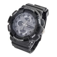 Los Hombres de moda Pantalla Digital LED Reloj de Los Deportes Electrónicos Reloj de Cuarzo Relogio masculino Impermeable de Doble Pantalla relojes de Pulsera