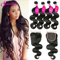 Brazilian Body Wave With Closure 3Bundles With Closure Body Wave Brazilian Hair With Closure Lace Closure With Bundles Body Wave