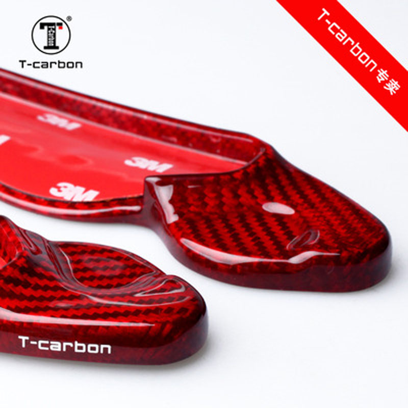 Auto styling Real Carbon Fiber Lenkrad Schaltwippen Extension Für Jaguar XFL XF XE XJ F PACE F TYPE Auto Zubehör - 3