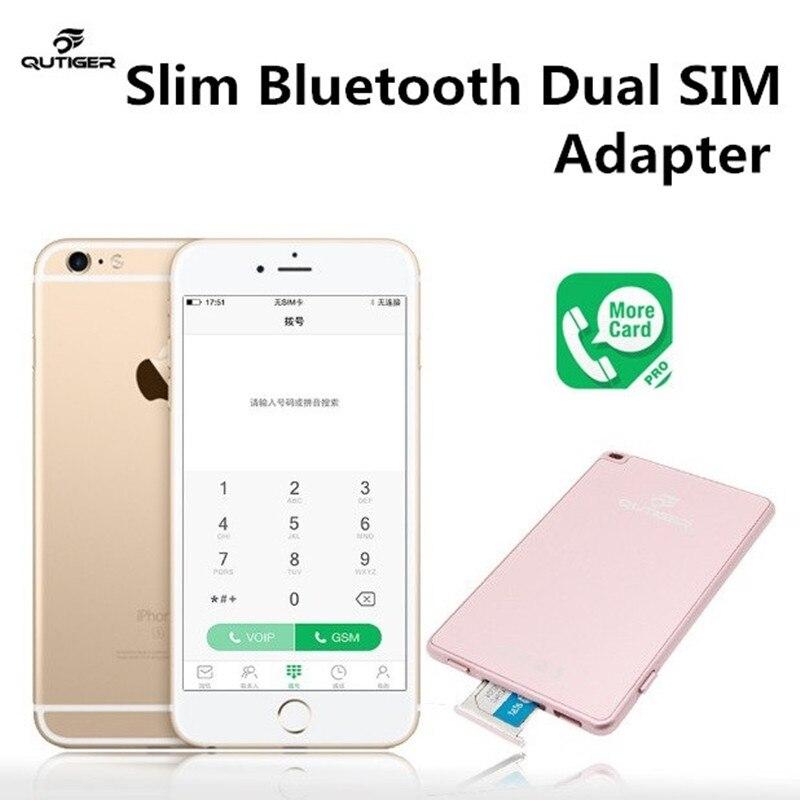Ультратонкий <font><b>Bluetooth</b></font> 4,0 Dual <font><b>SIM</b></font> карты адаптера 2 Nano <font><b>Sim</b></font> мини двойной резервный Micro <font><b>Sim</b></font> адаптер для iPhone X SE 5 5S 6 6s 7 8 плюс