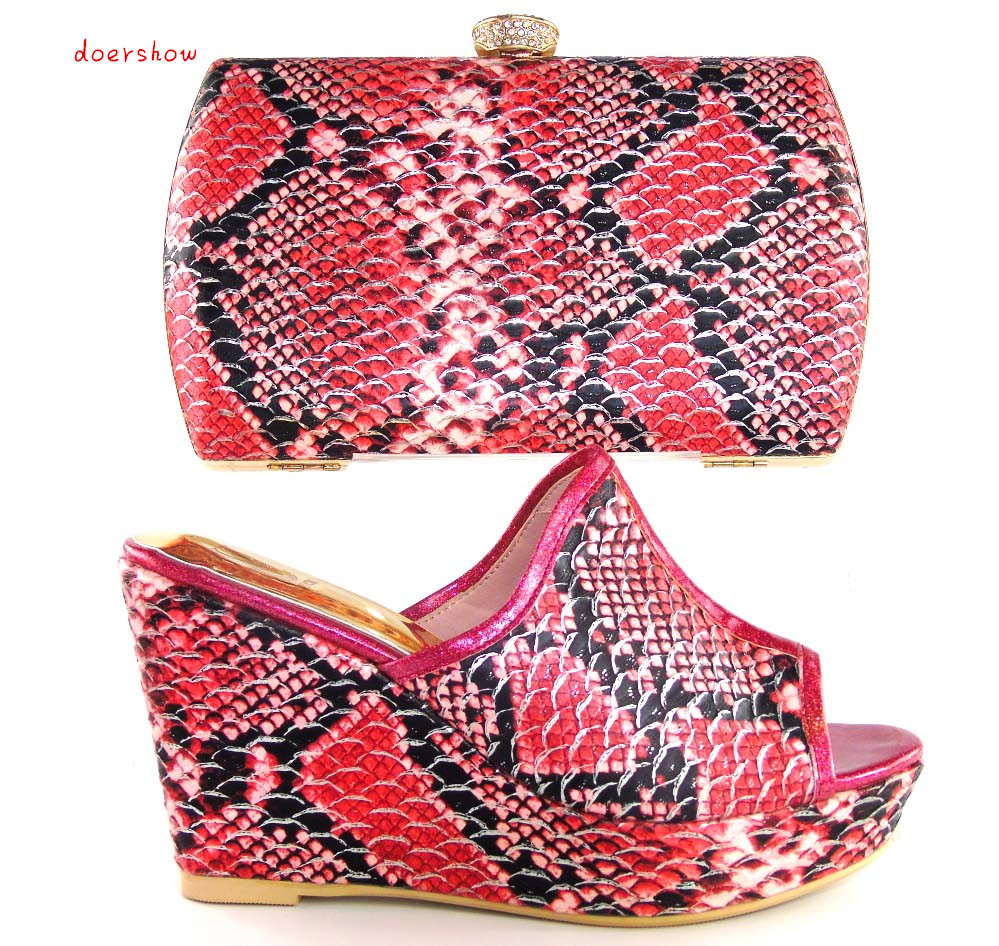 doershow African lady Shoes With Matching Bags Italian design Shoes and Bags Set Free Shipping. size 37-43 HHY1-14 doershow fast shipping fashion african wedding shoes with matching bags african women shoes and bags set free shipping hzl1 29