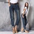 Boyfriend Jeans Para Mujeres 2017 de La Venta Caliente Freeshipping Mediados Sueltos Pantalones Harén de Mezclilla de La Vendimia Más El Tamaño Ocasional Mujer Vaqueros B528