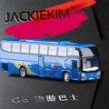 Горячая продажа 1:50 sacle сплава вытяните назад модель туристические автобусы, металл игрушечных автомобилей, Легкая музыка автобус, бесплатная доставка