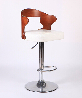 Discreet Solid Wood Retro Bar Chairs European-style Bar Chair Lift Swivel Chair At The Front Desk Bar Chairs Furniture