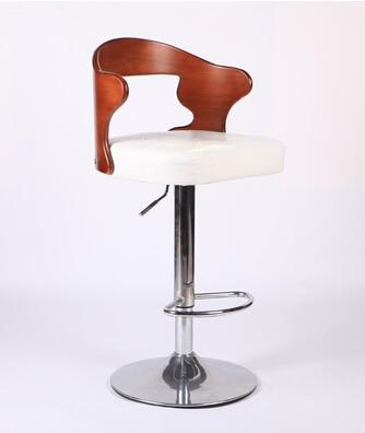 Bar Chairs Bar Furniture Discreet Solid Wood Retro Bar Chairs European-style Bar Chair Lift Swivel Chair At The Front Desk