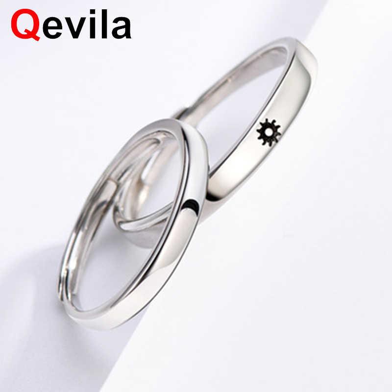 Qevila модные Винсента Ван Гога Луна солнце любовь кольца Серебристый цвет регулируемый женские мужские кольца Свадебные обручальные вечерние Jwelry