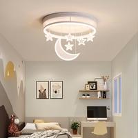 Chandelierrec Modern Kids Room LED Ceiling Lights AC85~265V home lighting fixtures for baby bedroom moon and star ceiling lamp