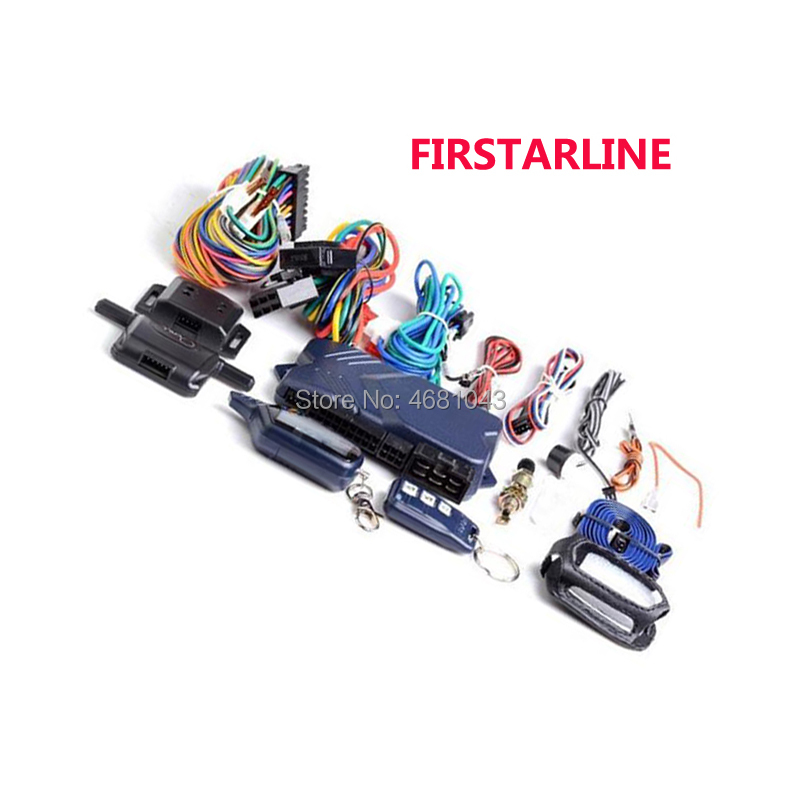 FIRSTARLINE Russian B9 Two Way Car Alarm System With Engine Start LCD Remote Control Keychain Key Chain For Twage Starline B9