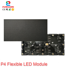 Evercollectvision High Quality Indoor RGB Full Color P4 Flexible LED Module Use For Around Display Screen