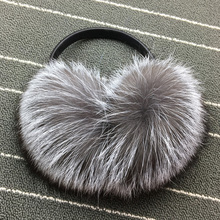 Winter Women Warm Real fox Earmuffs Girl's Earlap Ultralarge Imitation Ladie's Plush Ear Muff