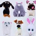 20-30cm 6pcs/lot The Secret Life of Pets Snowball Gidget Mel Max Chloe Buddy Soft Stuffed Plush Doll Toys For Kids Gift