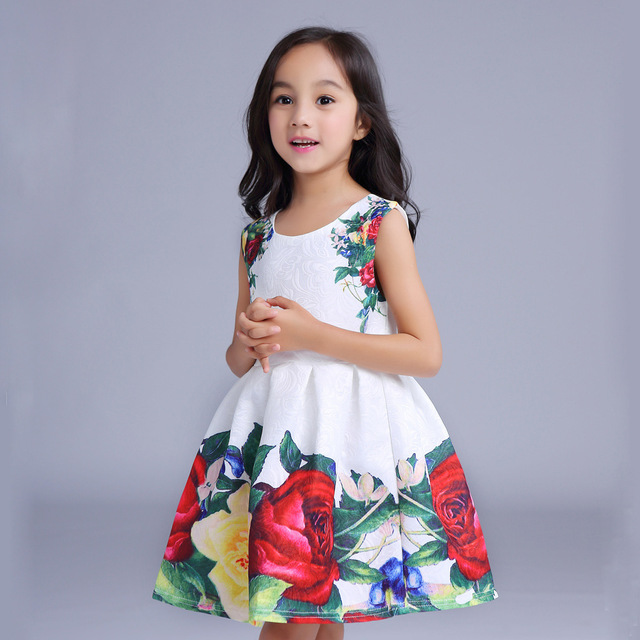 3a77eb728 2017 Toddler Sweet Kids Girls Full dress Casual Dresses Sleeveless ...