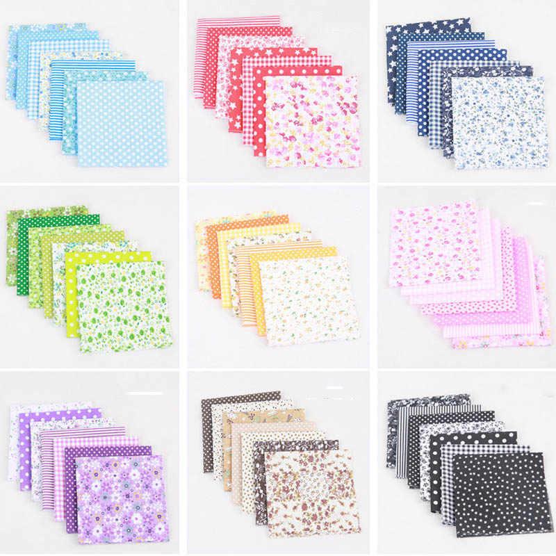 10 色パッチワーク高品質 diy の縫製混合スタイル花柄 100% 綿生地布材 7 シート