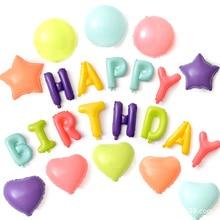 18 Macaroon Foil Balloon Wedding Birthday Party Decoration Balloons Star Heart Round Happy  D20