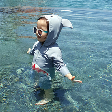 """Детский купальный костюм для маленьких мальчиков купальники животных Купальник """"Акула"""" Детские ванный Комплект Бассейн Костюмы Защита от ультрафиолетовых лучей, костюм"""