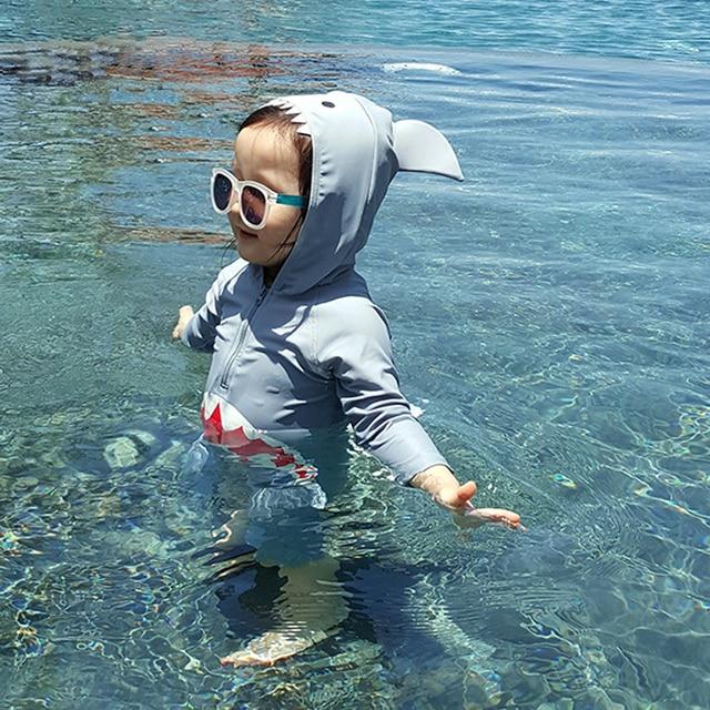 Children Swimsuit Baby Boy Swimwear Animal Sharks Swimsuit Infant ...