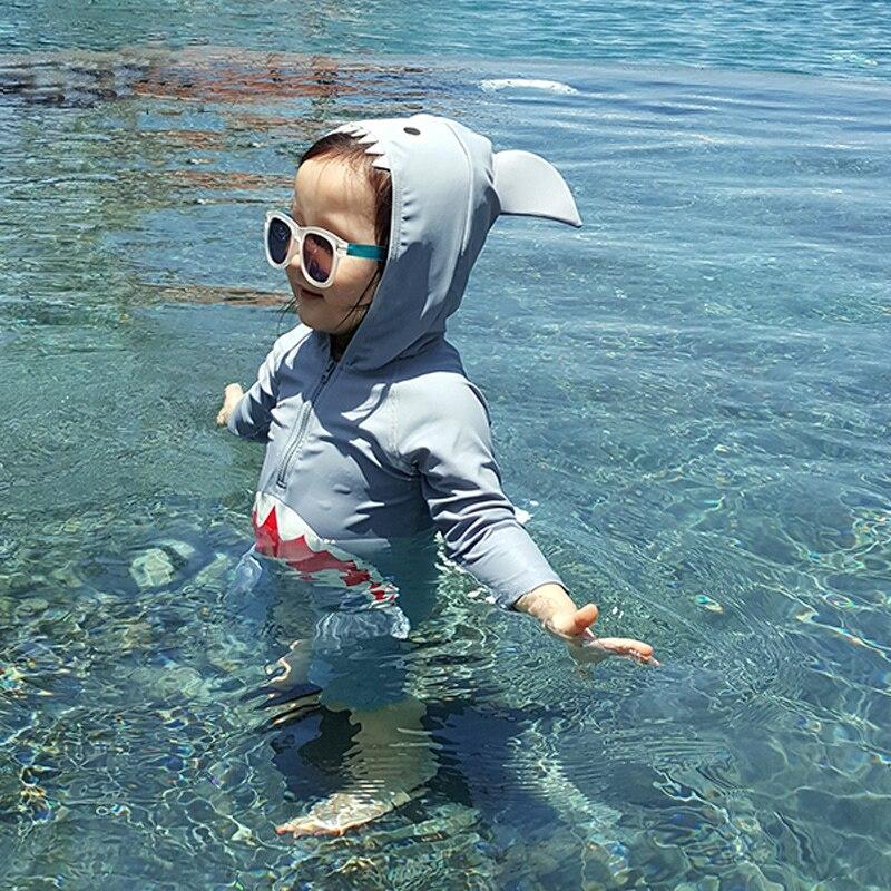 criancas maio bebe menino roupa de banho animais tubaroes maio infantil bebe natacao roupas piscina protecao