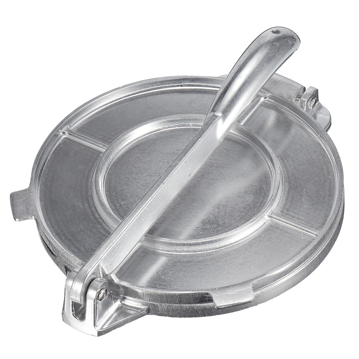 Pliable Tortilla Maker Presse Heavy Duty Viande En Aluminium Presse Gadgets Ustensiles de Cuisson Outils Tarte Outils Argent/Orange Cuisine Accessoires