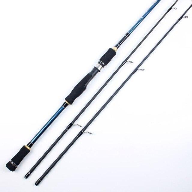 2 نصائح الغزل الصيد رود 100% الكربون Surper الصلب قصبة صيد خشبية 2 أقسام الصب إغراء الصيد رود
