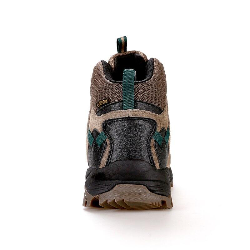 Мужская и женская альпинистская обувь; Короткие Водонепроницаемые ботинки с амортизацией и износостойкостью; зимняя теплая Уличная обувь - 5