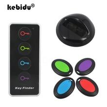Wireless Key Finder 4 in 1 REMOTE REMOTE Key Locator โทรศัพท์กระเป๋าสตางค์ Anti Lost กับไฟฉาย LED 4 เครื่องรับและ 1 Dock
