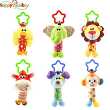 (3 delar / lot) Baby Rattle Leksaker Bil Handing Bell Multifunktionell Plush Toy