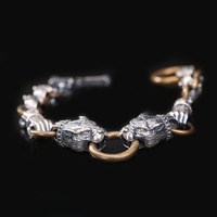 990 silver bracelet men's leading hand string Korean fashion sterling silver jewelry accessories factory