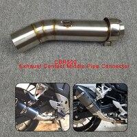 Motorcycle Exhaust Contact Middle Mid Pipe Connector for HONDA CBR500 CBR 500 CBR500R CBR500X 2012 2013 2014 2015