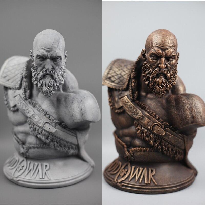 Высокое качество 1/3 масштаб Бог войны 4 Кратос бюст статуя Смола Mantel Поклонники Коллекция 27 см H