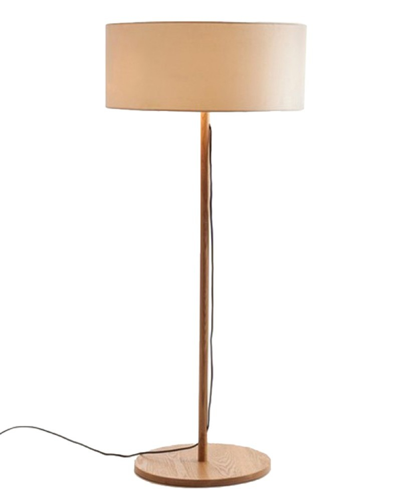Ems free shipping floor lamps led round wooden handmade for Yumi led floor lamp