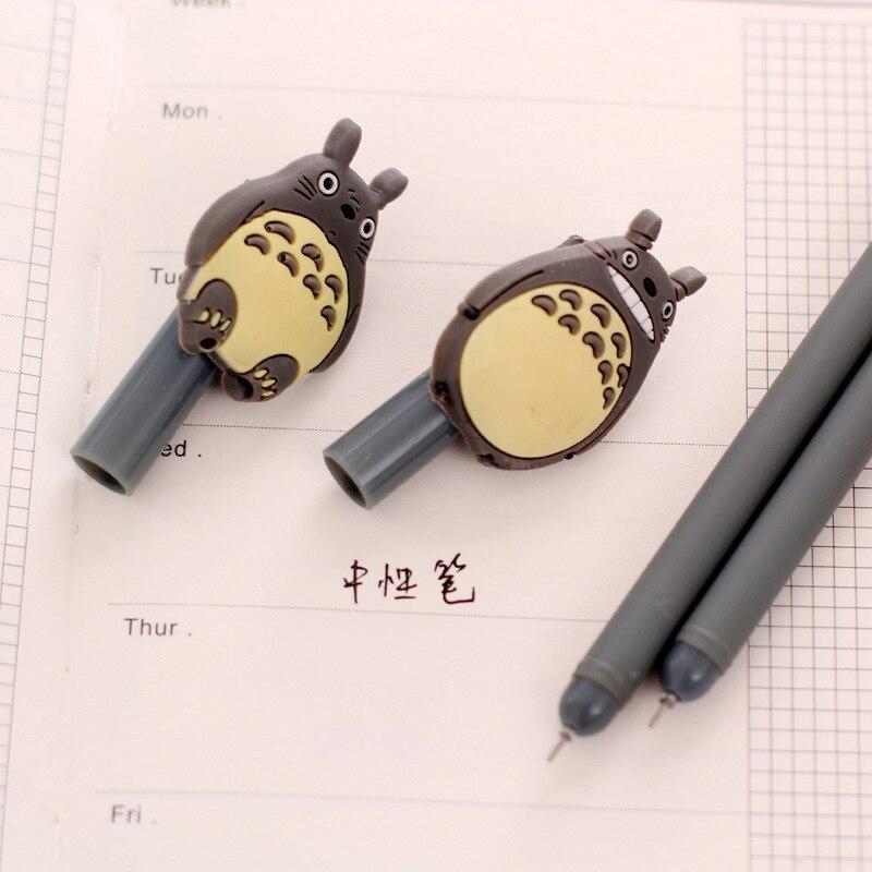 1 Pcs Creative Cute Cartoon Totoro Gel Pen 0.38mm Student Stationery Prize Signing Pen School Office Write Supplies 2