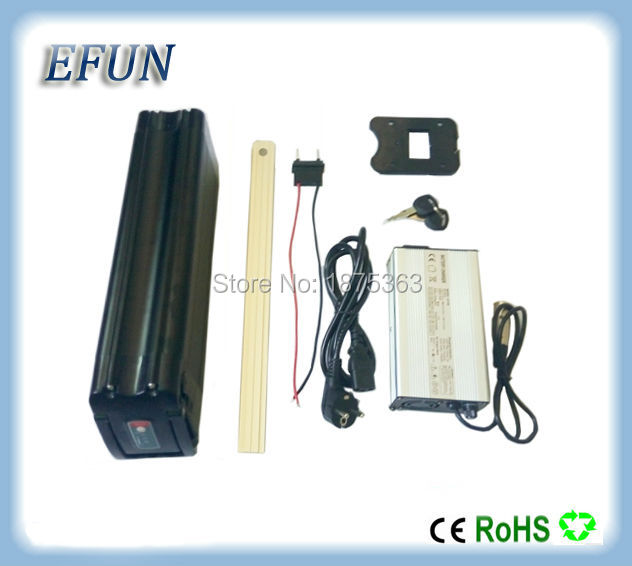 Free shipping Silver fish style 36V 20Ah Li-ion seat tube battery pack 18650 rechargeable battery for city bike with 42V charger free shipping rechargeable li ion battery pack 36v 10ah lithium ion bottle dolphin ebike battery 18650 battery pack