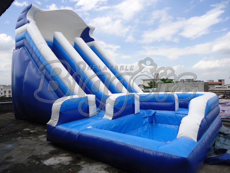 High Quality&Factory Price Commercial Inflatable Slide ,Inflatable Jumping Slide With Pool jungle commercial inflatable slide with water pool for adults and kids