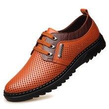 Мужская Повседневная дышащая кожаная обувь в деловом стиле с мягкой подошвой для отдыха; Мужская весенняя обувь из натуральной кожи среднего возраста