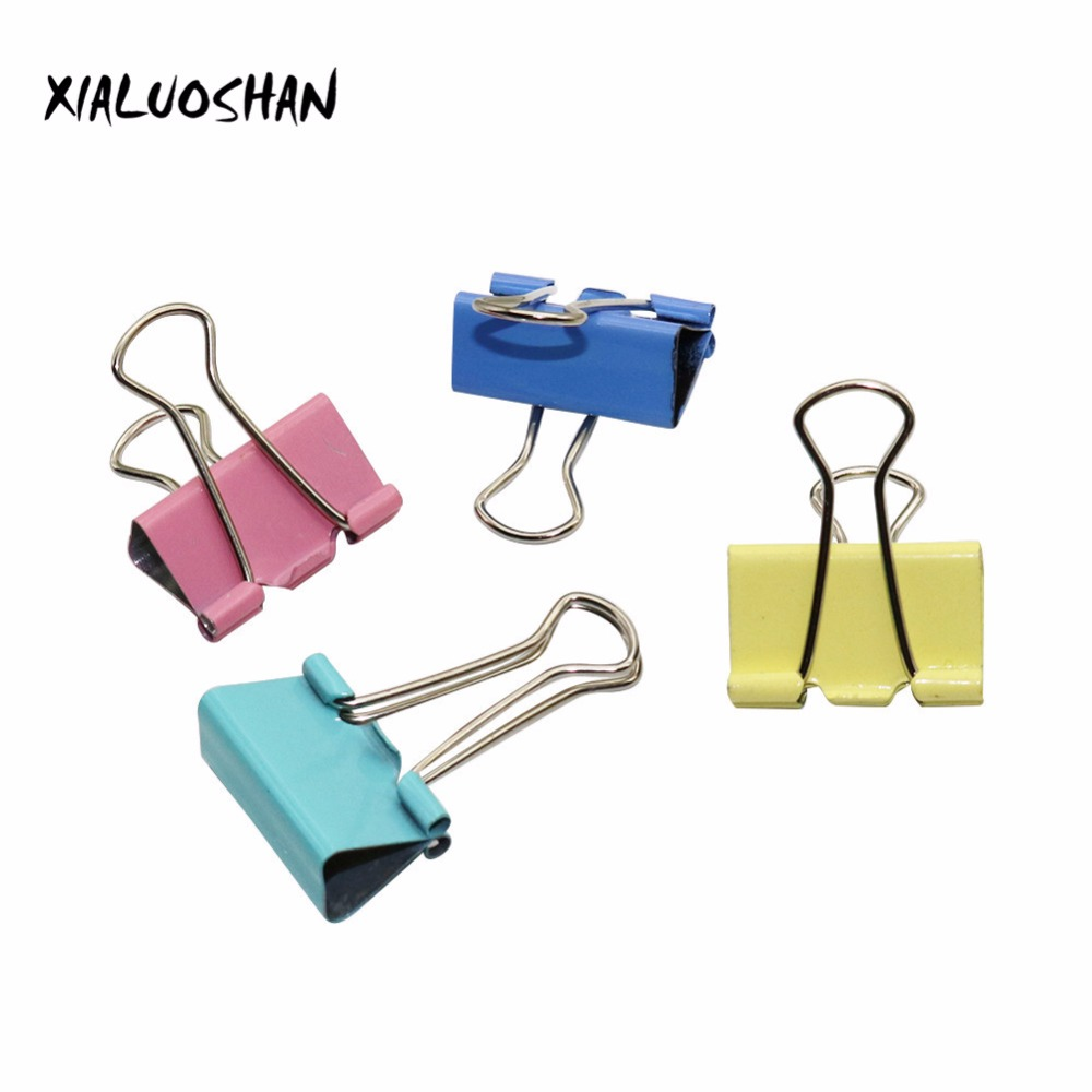 20 Pcs/set Office Stationery Students Office Tools Photo Holder Paper Multicolor Long Tail Clips Stationery Folder