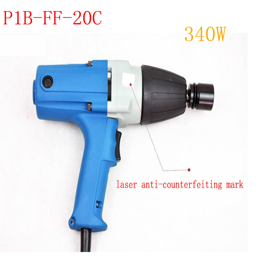 340w Electric Wrench M12-M20 Impact Wrench 220-240v/50hz P1B-FF-20C  Electric Impact Wrench  Socket 12.7x12.7mm 20pcs m3 m12 screw thread metric plugs taps tap wrench die wrench set
