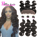 Ear to Ear Lace Frontal Closure With Bundles 8A Peruvian Virgin Hair Body Wave With Closure Human Hair Lace Frontal With Bundles