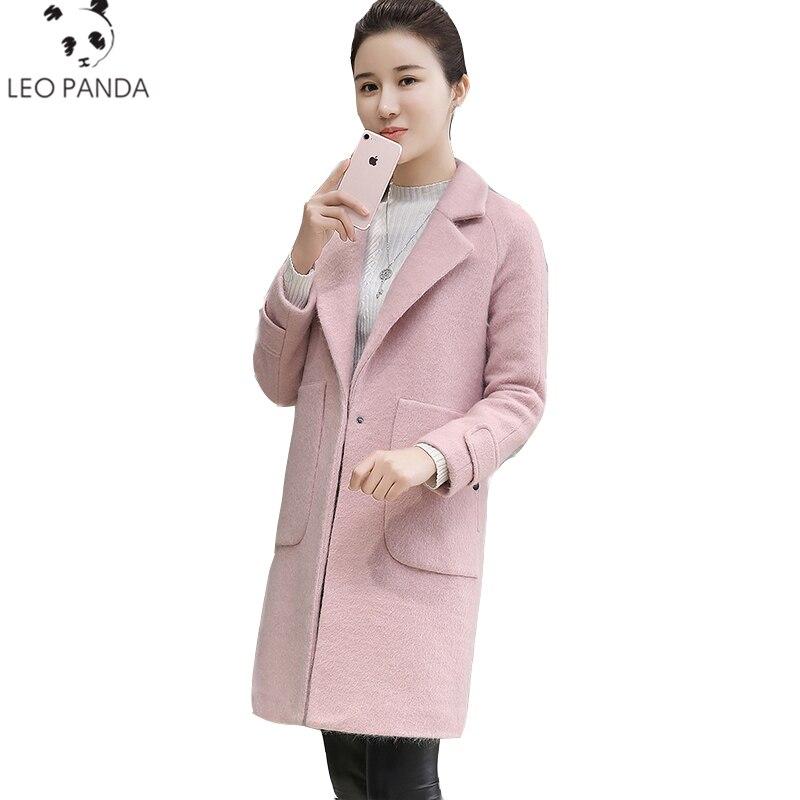 Pardessus Lcy06 Manteau pink Nouveau Long De Manteaux pourpre Femme Veste Femmes Mode Green Laine 2018 Cachemire wIHqF7