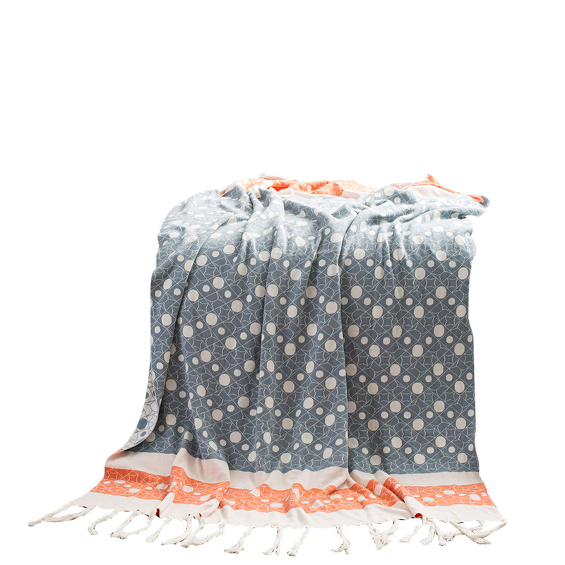 Doux Coton Pompon Couverture Adultes Crochet Fil Tricoté Couvertures de Couchage Couvre-lits climatisation Couverture Pour Bébés