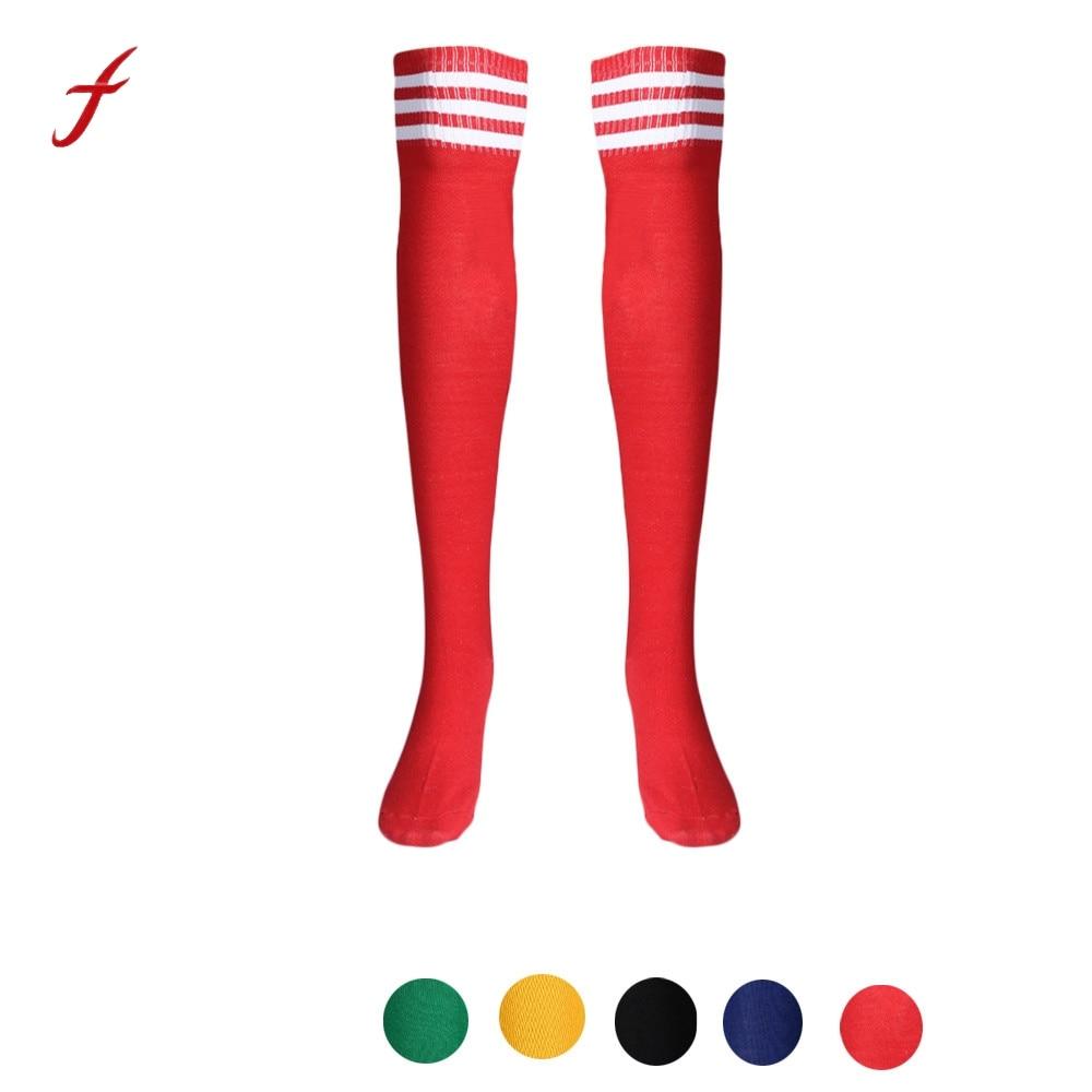 Для женщин модные высокие Носки для девочек пикантные теплые хлопок над гетры в полоску activewear с длинным Чулки для женщин для Обувь для девоч...