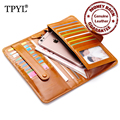 Guarantee 100% Luxurious Waxy Cow Leather 2016 Hot Women Passport Holder Cover Brand Designer Female Clutch Wallets Coin Purses