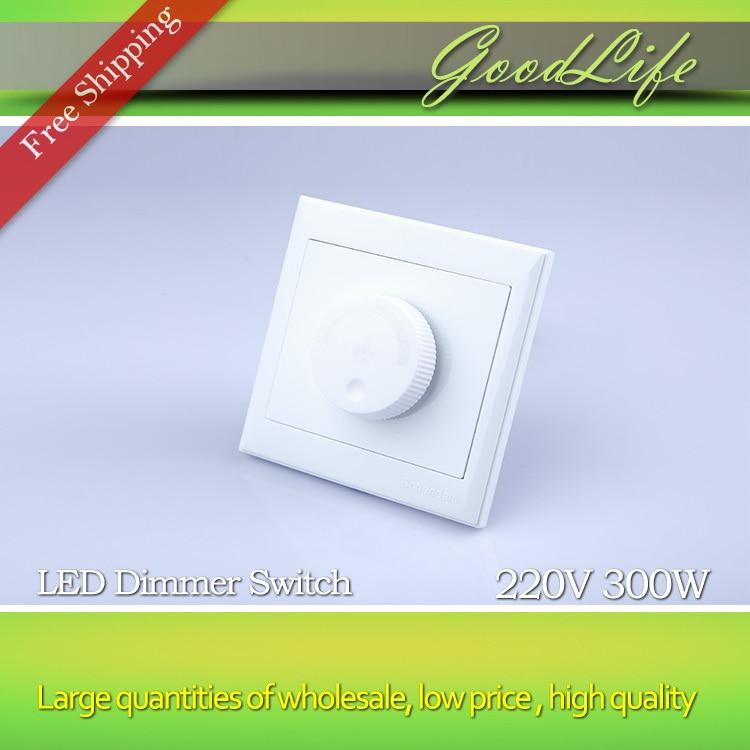 LED SCR dimmer switch 300W 220V LED Dimmer Dimming Driver Brightness Controller For Dimmable Ceiling light Downlight Spotlight