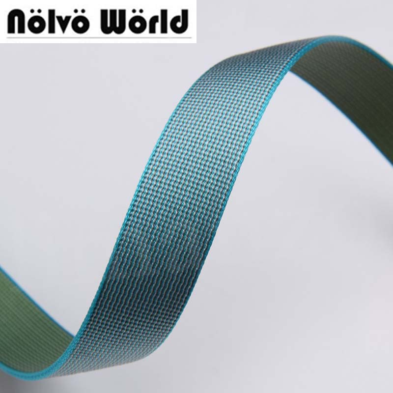 21mm wide 1.9mm thick Eco-Friendly newest colored nylon for DIY camera strap camera shoulder bags wristband on sale 10 yards/lot