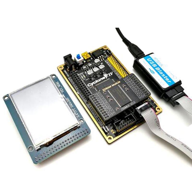 Altera CYCLONE IV EP4CE Kit de carte de développement carte FPGA + écran TFT 2.4 pouces + Blaster USB haute vitesse + Module SDRAM Ata006
