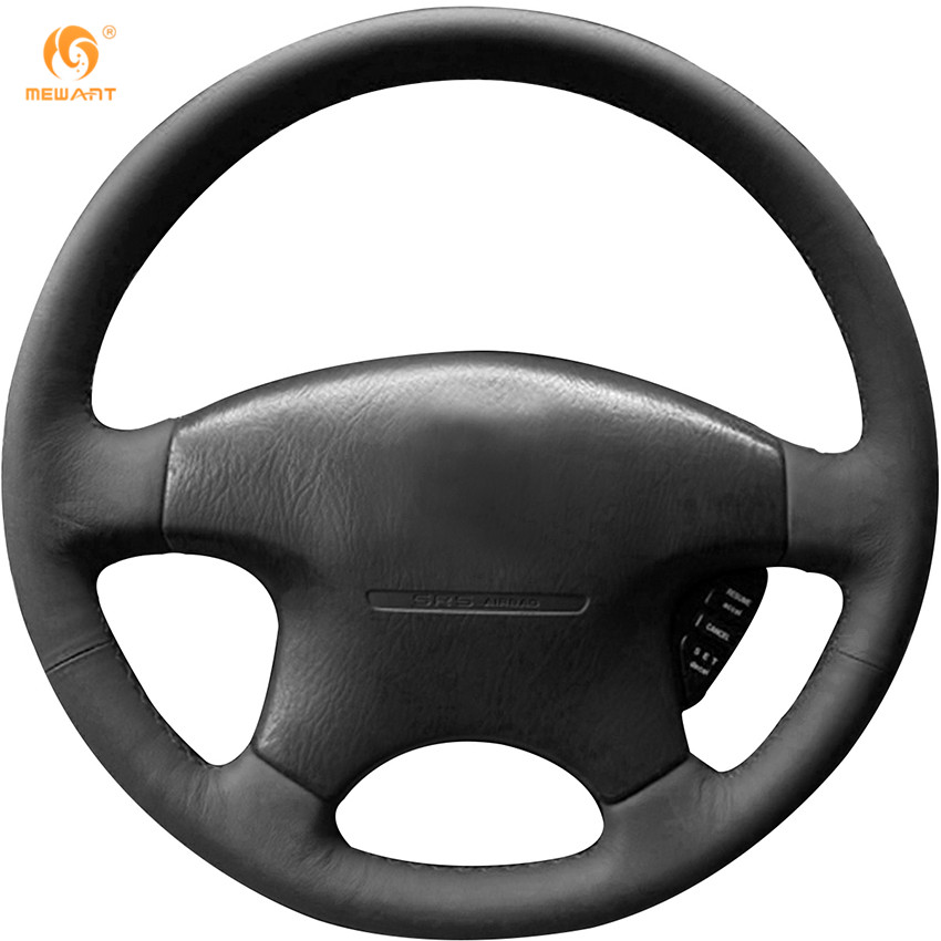 MEWANT Black Genuine Leather Car Steering Wheel Cover for Honda Accord 1999-2003 2000 Accord car styling cowl leather steering wheel cover for lexus nx200t nx300h is250 ct200h is200t