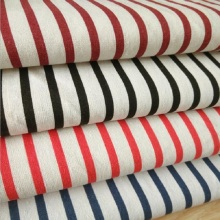 Four-Color Striped Linen Print Cotton Fabric Canvas Patchwork DIY Sewing Quilting Crafts Cloth Sofa Cover Material