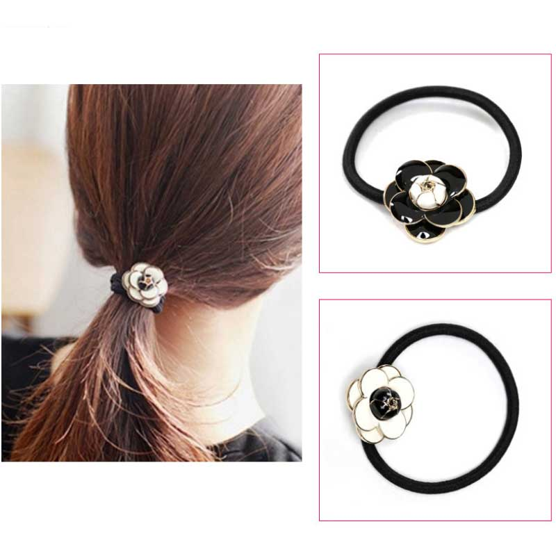 New Arrival Small fragrant Camellia Scrunch hair rope Korean fashion Woman headbands