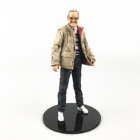Custom 6 Stan Lee Action Figure Head & Glasses & Body & Base 1/12 1:12 Moedl Doll Status For Marvel Legends Collection Toys