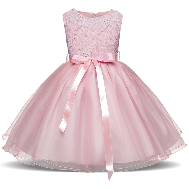 39e12102218df Lace Flower Baby Girl Wedding Dress Tutu Birthday Outfit For Girls Dresses  Children Fancy Tulle Frock